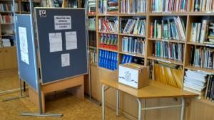 Volební místnost - Studentské volby 2017